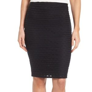 NWT CeCe Cynthia Steffe Jacquard Knit Pencil Skirt